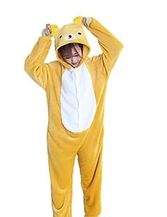 Kigurumi Pyjamas Bjørn Kostume Gul Flannelstoff Cosplay Kostumer Kigurumi Trikot / Heldraktskostymer Cosplay Festival / høytid Pysjamas