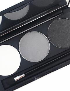 Pro 3 väri vedenpitävä kulmakarvojen jauhe kit earth tone väri silmä brow täyteaine meikki paletti
