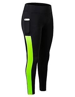 billige Løbetøj-Dame Patchwork Løbetights / Træningsleggings - Blå, Sort / Hvid, Sort / Grøn Sport Tights Sportstøj Letvægt, Fitness, Løb & Yoga,
