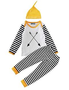 bebê Para Meninos Algodão Casual Geométrico Estampado Conjunto,Listras Primavera/Outono Inverno