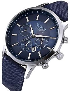 Herrn Einzigartige kreative Uhr Armbanduhren für den Alltag Sportuhr Modeuhr Chinesisch Quartz Kalender Wasserdicht Leder Echtes Leder
