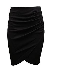Damen Lässig/Alltäglich Knielänge Röcke Bodycon Solide Frühling