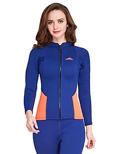 お買い得  ウェットスーツ/ダイビングスーツ/ラッシュガードシャツ-SBART 女性用 ウェットトップ 2mm ネオプレン トップス 人間工学デザイン, 高通気性 長袖 潜水 ソリッド / クラシック / ファッション 春 / 夏 / 伸縮性あり