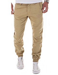 Men's Mid Rise Micro-elastic Harem Loose Active Chinos Pants,Casual Active Street chic Solid Cotton Spandex All Seasons
