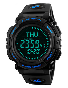 billige Digitalure-SKMEI Herre Digital Digital Watch Armbåndsur Militærur Sportsur Japansk Alarm Kalender Kronograf Vandafvisende LED Stor urskive