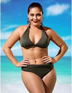 billige Bikinier og damemote 2017-Dame Store størrelser Grime Bikini Underbukser Ensfarget