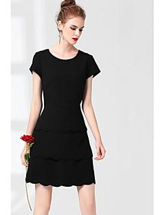 Χαμηλού Κόστους ZRANFANG-Γυναικεία Θήκη Φόρεμα - Μονόχρωμο Πάνω από το Γόνατο