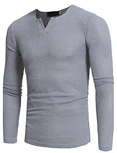 tanie Męskie swetry i swetry rozpinane-Męskie Weekend Okrągły dekolt Szczupła Długi Pulower Jendolity kolor