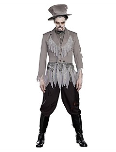 Zombie Vampyrer Cosplay Cosplay Kostumer Mann Halloween Karneval Festival/høytid Halloween-kostymer Hvit Vintage