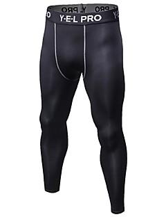 Herre Tights til jogging Treningstights Fitness, Løping & Yoga Fort Tørring Anatomisk design Pustende Lettvekt Sport Tights Bunner Løper