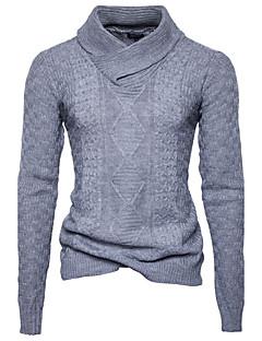 tanie Męskie swetry i swetry rozpinane-Męskie Sport Praca Aktywny Wzornictwo chińskie Golf Pulower Jendolity kolor