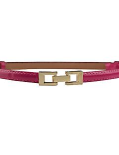 billige Trendy belter-Dame Dress Belt Spenne Ensfarget Legering / PU