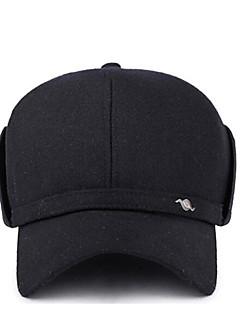 billige Hatter til damer-Herre Hatt / Moderne / Enkel Baseballcaps - Ren Farge, Trykt mønster Polyester / Vinter