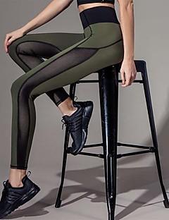 Legging de costura média feminino, moda patchwork. fechar. calças de movimento