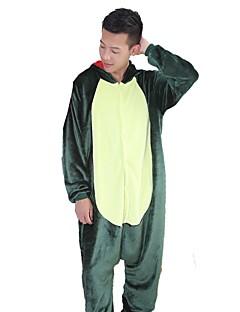 billige Kigurumi-Kigurumi-pysjamas Dinosaur Drage Onesie-pysjamas Kostume Flannelstoff Grønn Rosa Cosplay Til Pysjamas med dyremotiv Tegnefilm Halloween