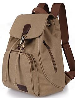 hesapli -Kadın's Çantalar Tuval sırt çantası için Dış mekan / Seyahat İlkbahar yaz Havuz / Siyah / Kahve