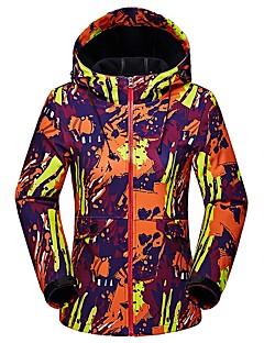 cheap Softshell, Fleece & Hiking Jackets-LEIBINDI Women's Hiking Softshell Jacket Outdoor Winter Keep Warm Thermal / Warm Breathable Wearproof Jacket Top Camping / Hiking