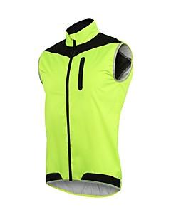 Veste de Cyclisme Homme Vélo Gilet/Sans Manche Pare-vent Respirabilité Léger Polyester Elasthanne Course Cyclisme Exercice & Fitness