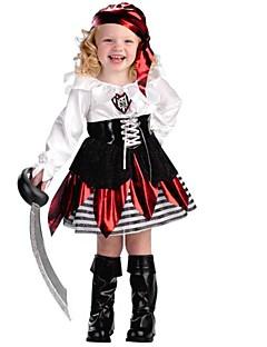Pirát Cosplay Kostýmy Dítě Halloween Festival / Svátek Halloweenské kostýmy Černá Módní