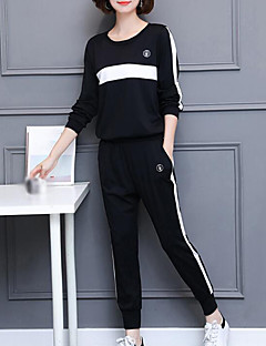 Women's Plus Size Daily Simple Fall Hoodie Pant Suits