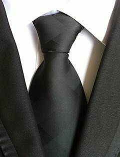 olcso -Férfi Tömör Minden évszak Rácsos Egyszínű Nyakkendő