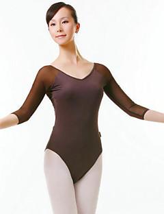 Balet Dámské Taneční vystoupení Nylon Jeden díl Polodlouhé rukávy Přírodní Leotard