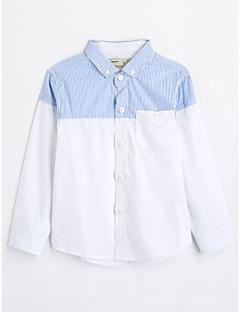 男の子 カラーブロック コットン シャツ 秋 長袖