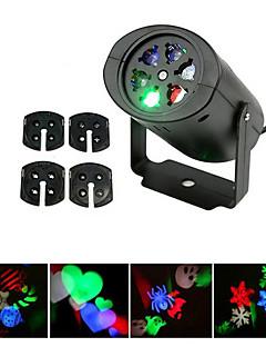 preiswerte Briefkasten Lampen-ywxlight® eu us plug no-wasserdicht 4 patterns schneeflocke led projektorlicht für hausgartenlandschaft