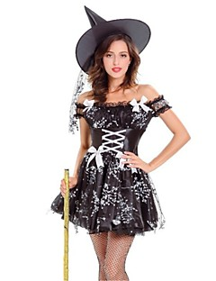Trollmann/heks Cosplay Kostumer Voksne Halloween Festival/høytid Halloween-kostymer Mote Vintage