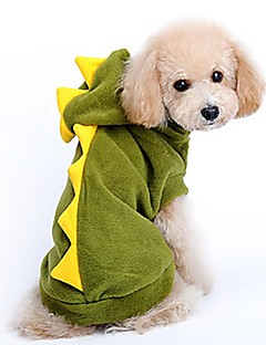 billiga Hundkläder-Katt Hund Dräkter/Kostymer Hundkläder Enfärgad Grön Cotton Kostym För husdjur Fest Cosplay
