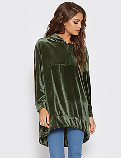 Damen Kapuzenshirt Festtage Lässig/Alltäglich Solide Mikro-elastisch Polyester Lange Ärmel Herbst Winter
