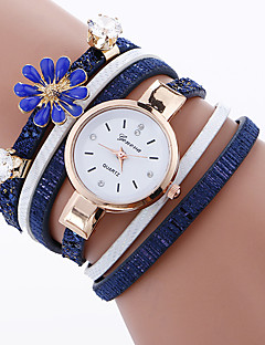 Women's Fashion Watch Bracelet Watch Quartz Fabric Band Charm Cool Casual Unique Creative Black White Blue Red Pink