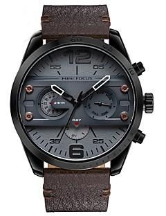Pánské Vojenské hodinky Módní hodinky Náramkové hodinky japonština Křemenný Kalendář Chronograf Voděodolné Punk Velký ciferník Hodinky s