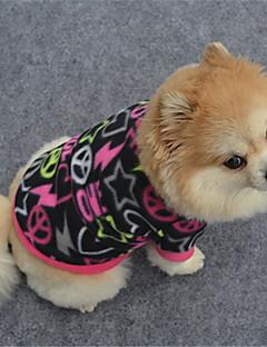 billiga Hundkläder-Hund Tröja Hundkläder Geometrisk Svart / Purpur / Fuchsia Polär Ull Kostym För husdjur Ledigt / vardag
