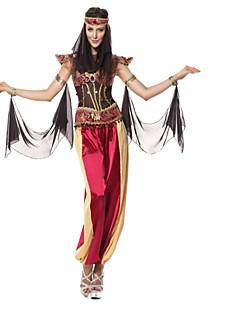 halpa -cleopatra Cosplay-Asut Naamiaisasu Naisten Halloween Festivaali / loma Halloween-asut Punainen Muoti