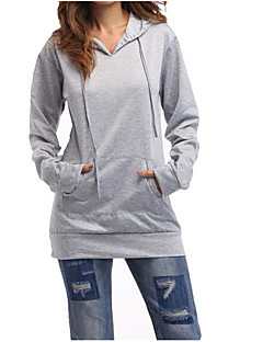 Women's Going out Hoodie Solid Letter Hooded Micro-elastic Others Long Sleeve Spring Fall