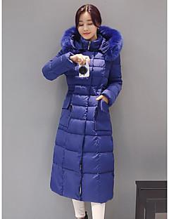 Manteau Doudoune Femme,Longue simple Décontracté / Quotidien Couleur Pleine-Coton Autres Polypropylène Manches Longues