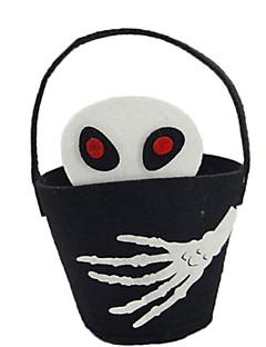 billige Halloweenkostymer-Skjelett / Kranium Bagger og vesker Halloween Festival / høytid Halloween-kostymer Svart Mote