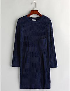 billige Lagersalg-Dame Fritid Pullover - Ensfarget