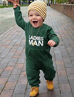 お買い得  赤ちゃんウェア-赤ちゃん 男の子 純色 その他 コットン ワンピース 春/秋 オールシーズン 長袖 ドレスウェア グリーン