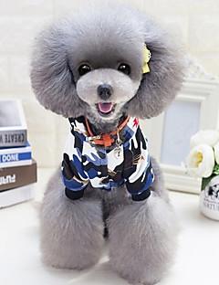 billiga Hundkläder-Hund Huvtröjor Hundkläder Geometrisk Grön / Blå Skinna / Ner / Cotton Kostym För husdjur Ledigt / vardag