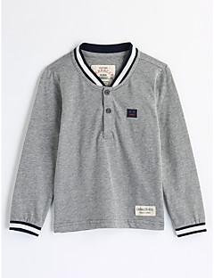 tanie Odzież dla chłopców-Bluzka Bawełna Dla chłopców Jendolity kolor Jesień Długi rękaw Gray