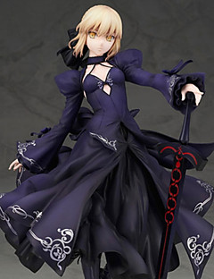 billige Anime cosplay-Anime Action Figurer Inspirert av Fate / Stay Night Saber PVC CM Modell Leker Dukke Herre Dame