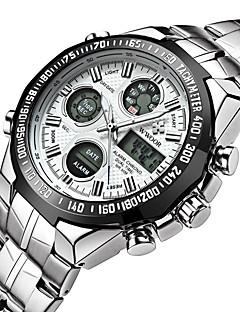 billige Børneure-Herre Digital Watch Japansk Alarm / Kalender / Vandafvisende Rustfrit stål Bånd Vedhæng / Luksus / Vintage Sølv