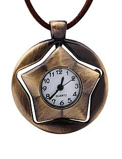 男性用 懐中時計 中国 手巻き式 レザー バンド ビンテージ 創造的 ブラウン