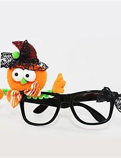Dyremønster Gresskar Briller Halloween Barnas Dag Festival/høytid Halloween-kostymer Oransje Mote
