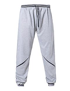 男性用 ランニングパンツ 透湿性 高通気性 快適 パンツ ボトムズ のために ランニング エクササイズ&フィットネス トラベル コットン ルーズ ホワイト ブラック グレー ブルー L XL XXL