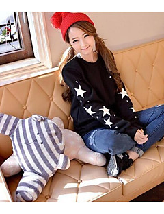 Women's Casual/Daily Sweatshirt Print Round Neck Inelastic Cotton Long Sleeve Fall