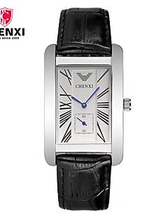 CHENXI® Pánské Hodinky k šatům Módní hodinky čínština Křemenný Kůže Kapela Na běžné nošení Cool Černá Hnědá