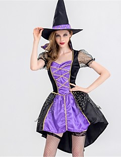 billige Halloweenkostymer-Trollmann/heks Cosplay Kostumer Halloween Festival / høytid Halloween-kostymer Lilla Mote